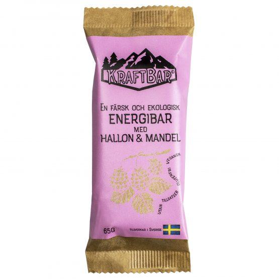 Färsk ekologisk energibar Hallon & mandel